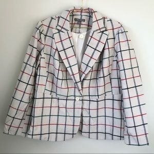 Jessica London plus size wool plaid coat blazer